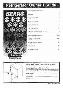 Kenmore 25377132791 Refrigerator Owner U0026 39 S Manual Pdf View