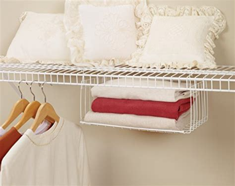 How To Hang Closetmaid Wire Shelving - closetmaid 6222 hanging basket for wire shelving buy
