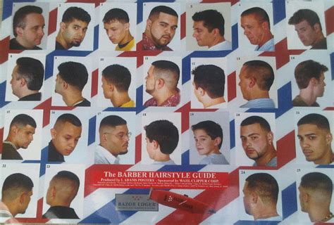 barber haircut chart barber hairstyle guide hairstyles