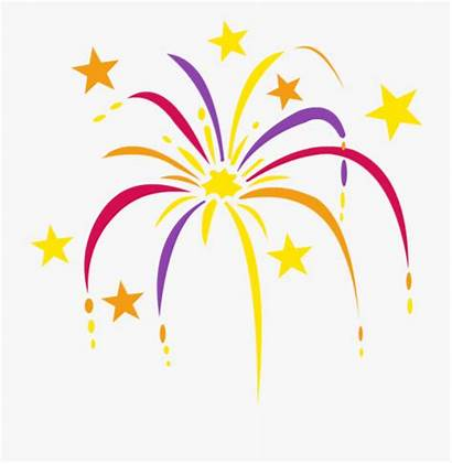 Clip Celebration Clipart Fireworks Years Firework Cartoon