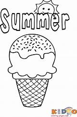 Ice Cream Coloring Summer Kidocoloringpages Sheets Colouring Preschool Printable Creams Unicorn Popular Comments sketch template