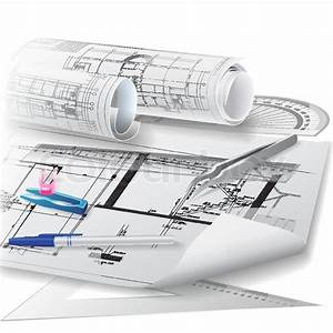 Architectural Background With Drawing