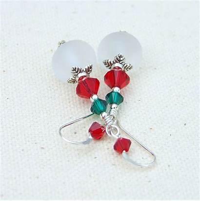 Christmas Jewelry Earrings Handmade Holiday Lampwork Designs