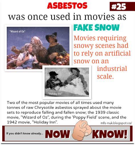 mfs    random fact asbestos