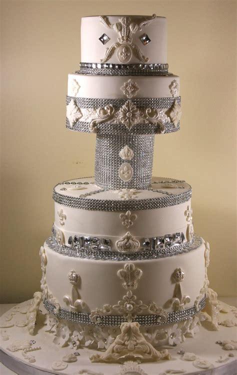 bling wedding cake  ultimate princess cake   tie flickr
