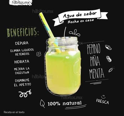 Agua de sabor hecha en casa Bebidas Healthy juice