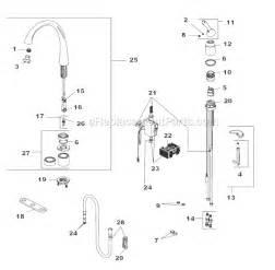 delta kitchen faucets repair parts delta faucet 4380t dst parts list and diagram