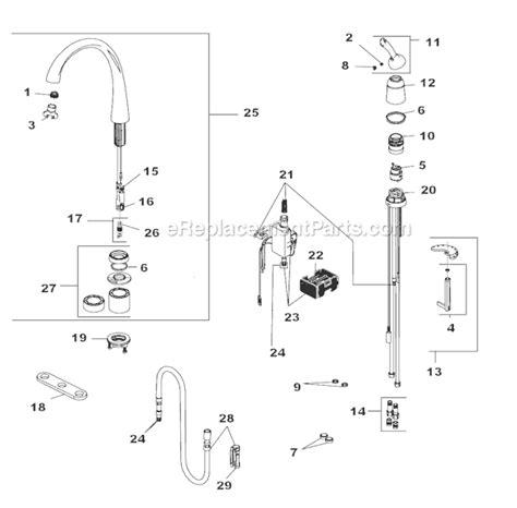 delta faucet repair parts delta faucet 4380t dst parts list and diagram