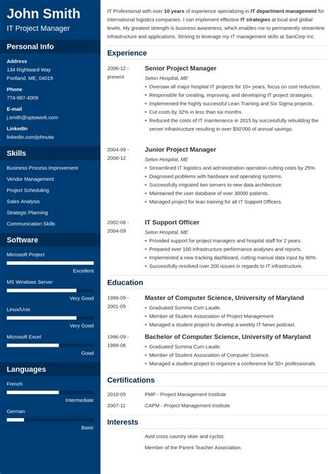 Create Your Resume by 20 Resume Templates Create Your Resume In 5