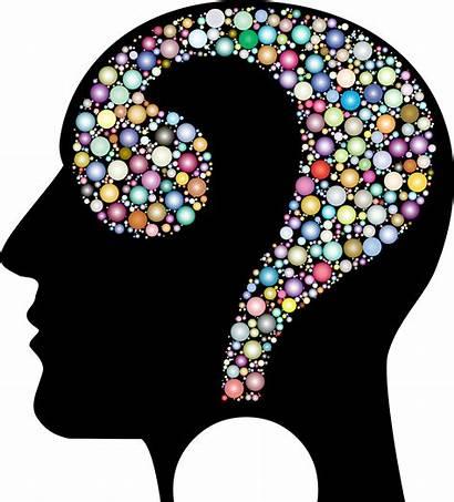 Head Clipart Colorful Question Transparent Psychology Background