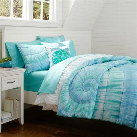 blue tie dye bedding dunes tie dye quilt sham quilts and quilt sets other