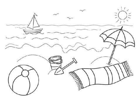 beach  ocean coloring pages summer coloring pages