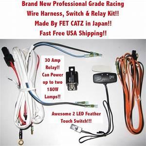 Wire Harness Switch  U0026 Relay Kit 4 Catz Hella Piaa Bosch Kc