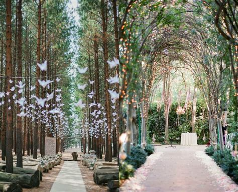 natural spring forest themed wedding reception decor ideas