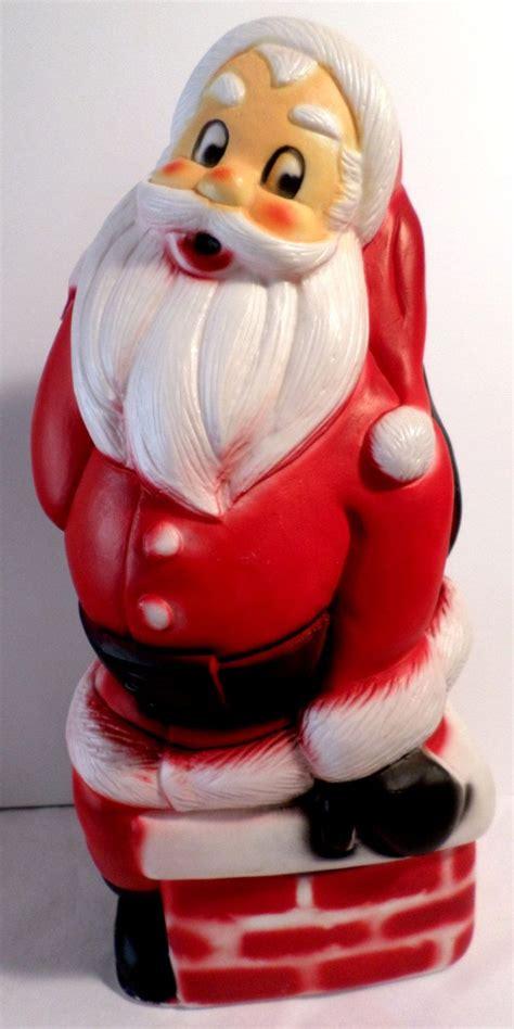 vintage christmas blow mold santa santa blow mold santa
