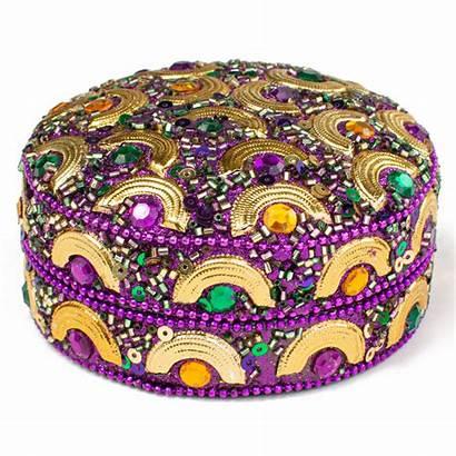 Box Half Round Circle Jeweled Pill Boxes