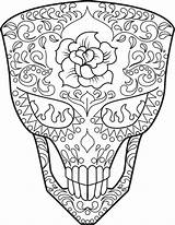 Coloring Skull Sugar Pages Skulls Adult Dead Sheets Printable Mask Mandala Adults Cat Halloween Stormtrooper Mexican Kidspressmagazine Template Culture Colouring sketch template