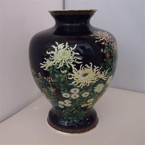 japanese cloisonne vase vintage japanese cloisonne vase by ando from