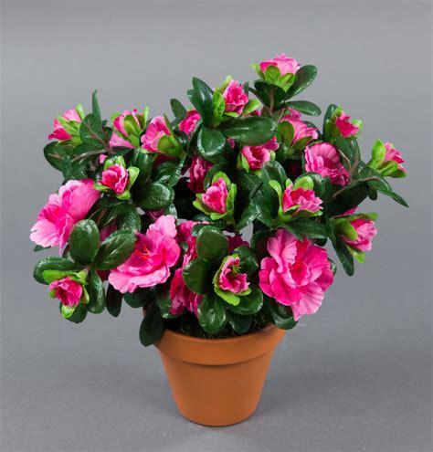 azalee 24cm fuchsia im topf lm kunstpflanzen k 252 nstliche blumen kunstblumen ebay