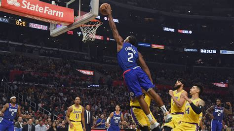 clippers defeat lakers    nba season opener