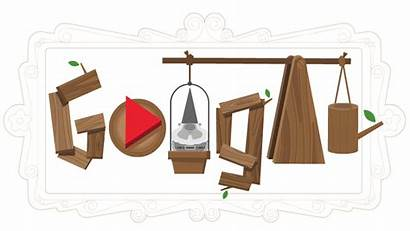 Gnomes Garden Doodles Celebrating Google