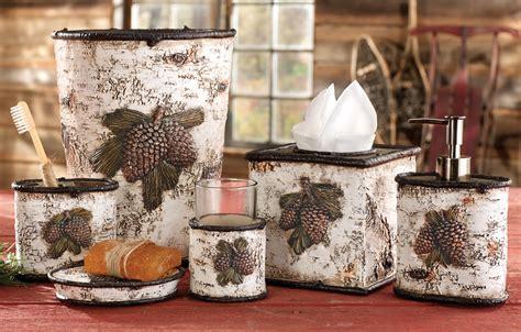 pinecone kitchen accessories pinecone birch bath accessories 1496