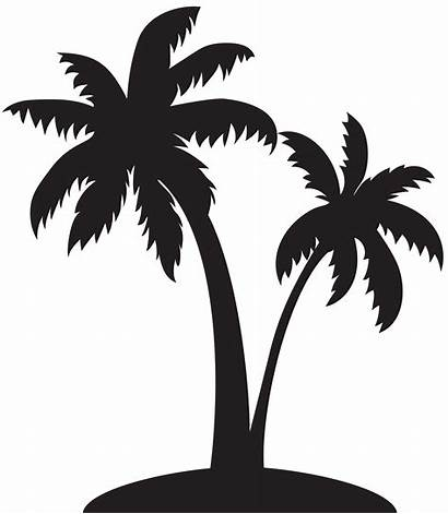 Coconut Silhouette Tree Clip Transparent Vector Palms