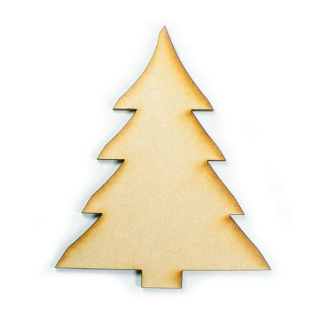 mdf wood wooden shape shapes christmas tree cutout craft