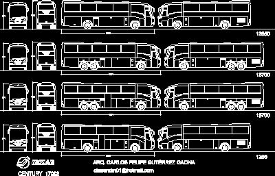 iriza century bus dwg model  autocad designs cad