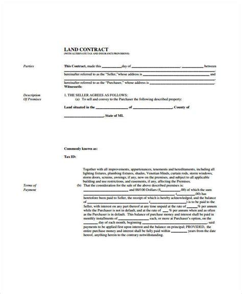 land contract form etaufalcom