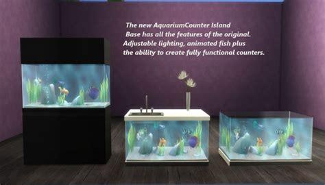aquarium counter island base  snowhaze  mod  sims