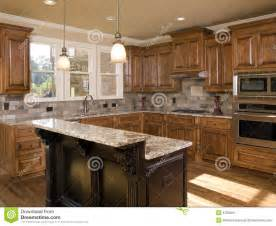 luxury kitchen islands luxury kitchen two tier island royalty free stock image image 6769266