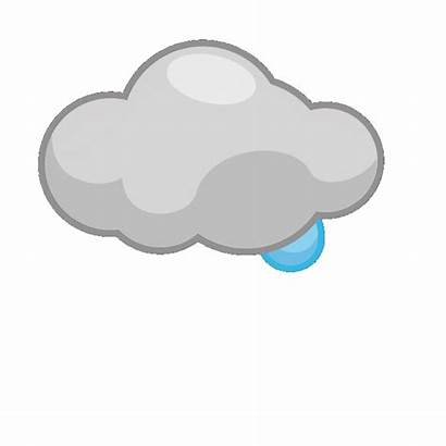 Cloud Clouds Clipart Rain Animated Storm Weather