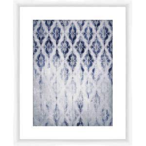 ptm images fade pattern framed graphic art  light blue