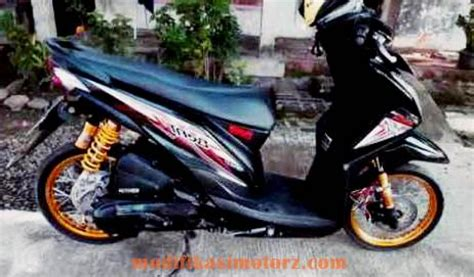 Modifikasi Motor Beat Fi Hitam by Motor Beat Fi Modifikasi Standar Warna Hitam
