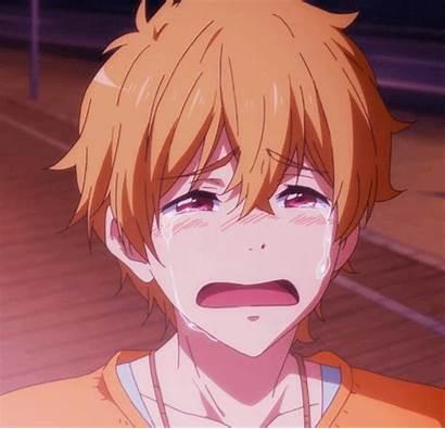 Anime Iwatobi Crying Nagisa Gifs Swim Club