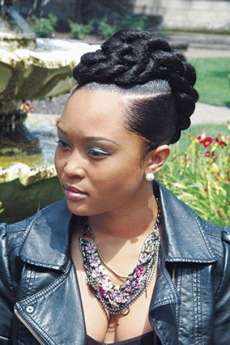 Black Updo Braids Hairstyles by Black Braided Updo Hairstyles