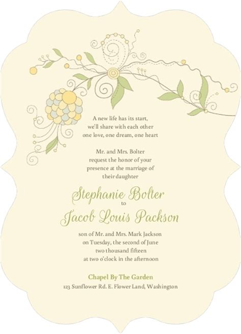 Word  Ee  Wedding Ee   Invitations  Ee  Invitation Ee    Ee  Wording Ee   Ideas