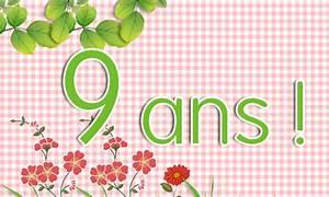 Carte Anniversaire Fille 9 Ans : carte d 39 anniversaire fille 9 ans ~ Melissatoandfro.com Idées de Décoration