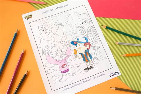 gravity falls coloring page disney family
