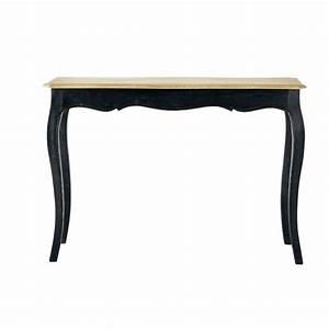 Table En Manguier : table console en manguier massif noire versailles maisons du monde ~ Teatrodelosmanantiales.com Idées de Décoration