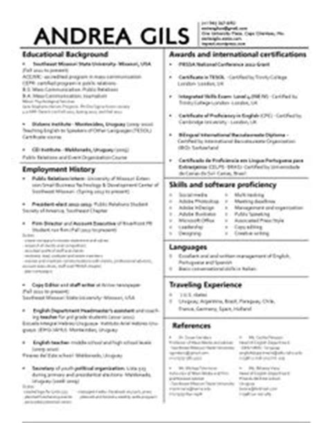career on resume resume design and columns