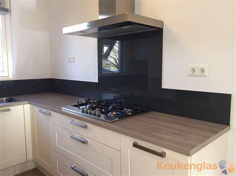 Achterkant Keuken by Zwarte Glazen Keuken Achterwand Arnhem Keukenglas