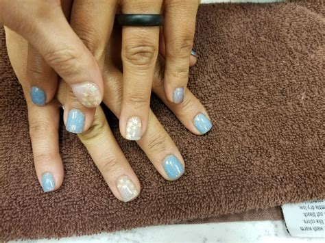 stephan sns mood changing nails light blue  warmth