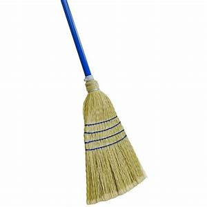 Quickie Complete Sweep Poly Corn Broom-902-1 - The Home Depot