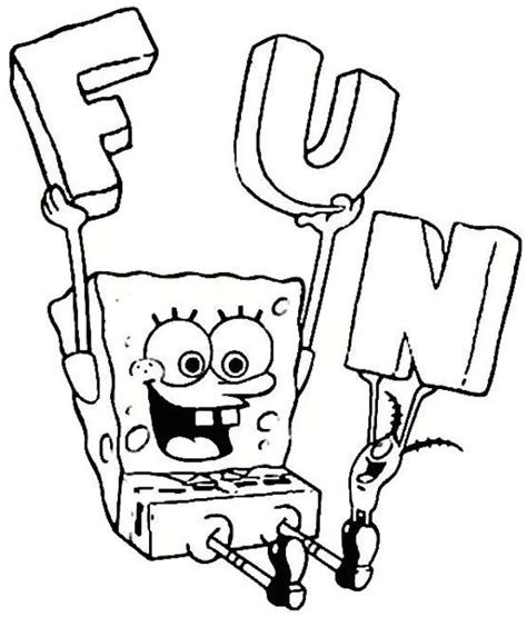 n 39 coloring pages of spongebob squarepants
