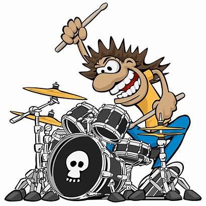 Drummer Drum Wild Cartoon Playing Illustration Rock