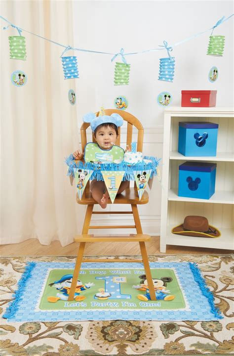 Mickey Mouse High Chair Decorations - mickey mouse 1st birthday high chair decorating kit