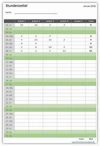 Arbeitsstunden Berechnen Pro Monat : stundenzettel alle meine ~ Themetempest.com Abrechnung
