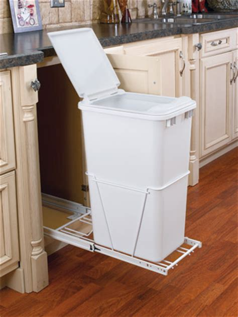 quart sliding trash bin  lid  full extension